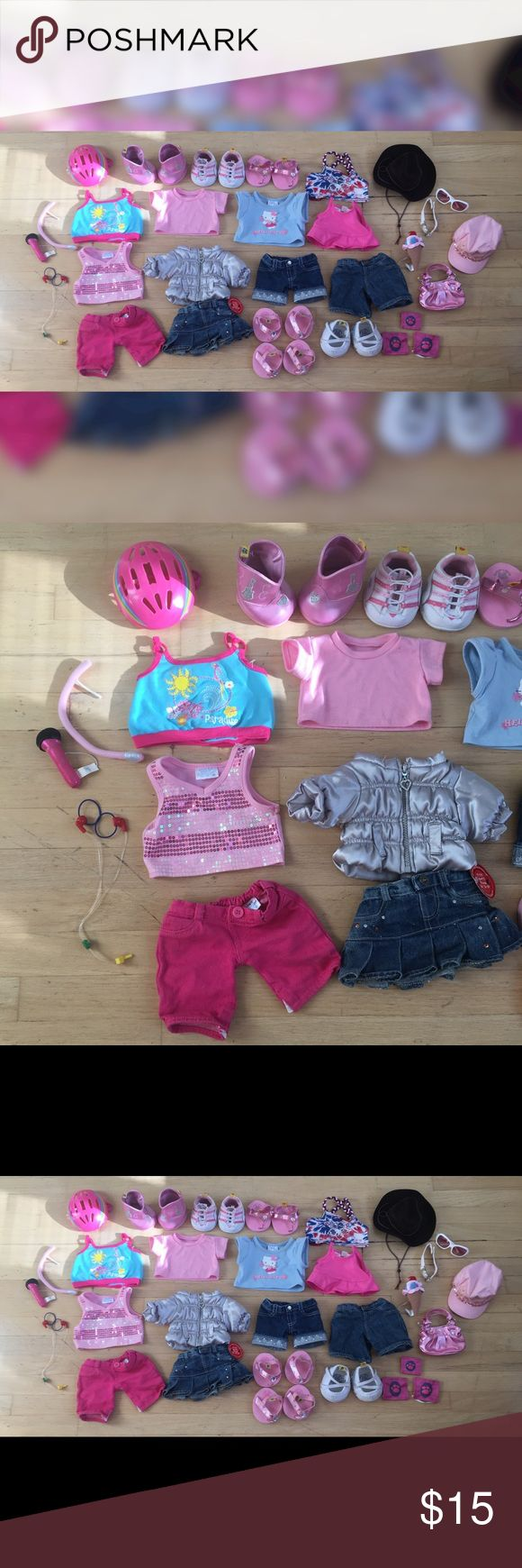 Build-A-Bear Clothes Every purchase comes with a FREE mystery item!! Shirts, pants, and shoes are $5 Accessories are $3 Buying multiple items will result in a discount! All items: $15 All items are in perfect condition! Build-A-Bear Other