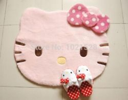 Online Shop large 88x77cm Unique Japan soft Hello Kitty door mat Pink floor mat children room decoration cartoon cat Rug Carpet anti slip |Aliexpress Mobile
