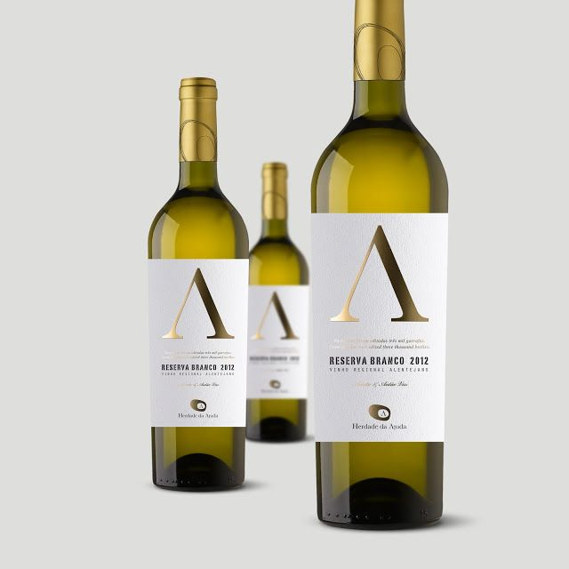 White Reserva Label on Packaging of the World - Creative Package Design Gallery #taninotanino