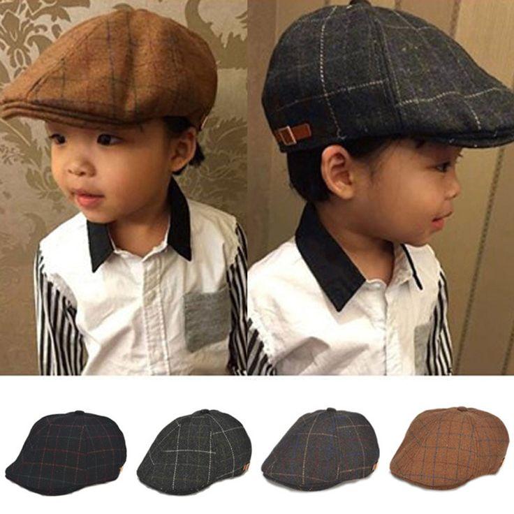 Baby jongen hoeden gestreepte baret pasgeboren fotografie props lente nieuwe aangekomen baby cap foto props 1-3 jaar