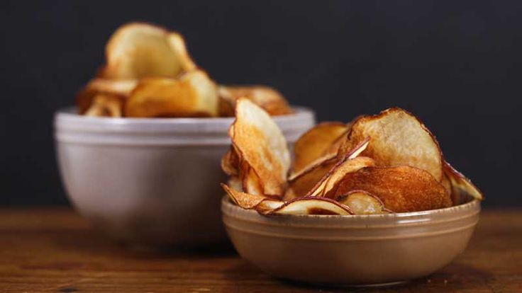 Oprah Winfrey's truffle salted potato chips . These yummy chips only need 3 ingredients!