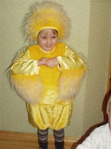 Детский карнавальный костюм курочки с цыплятами