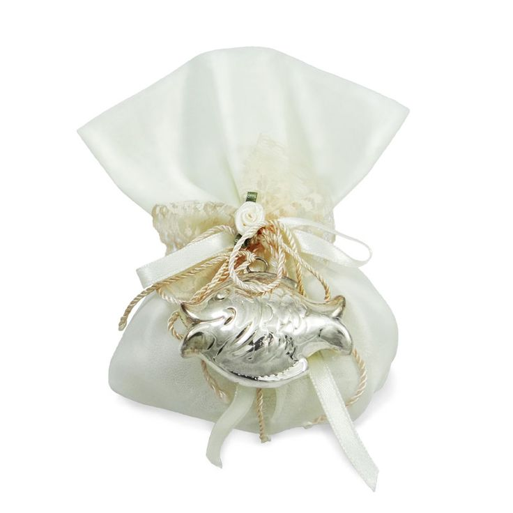 Favour, with a copy of an old rattle in fish shape made of pure silver 999o. By Shine4ever.gr