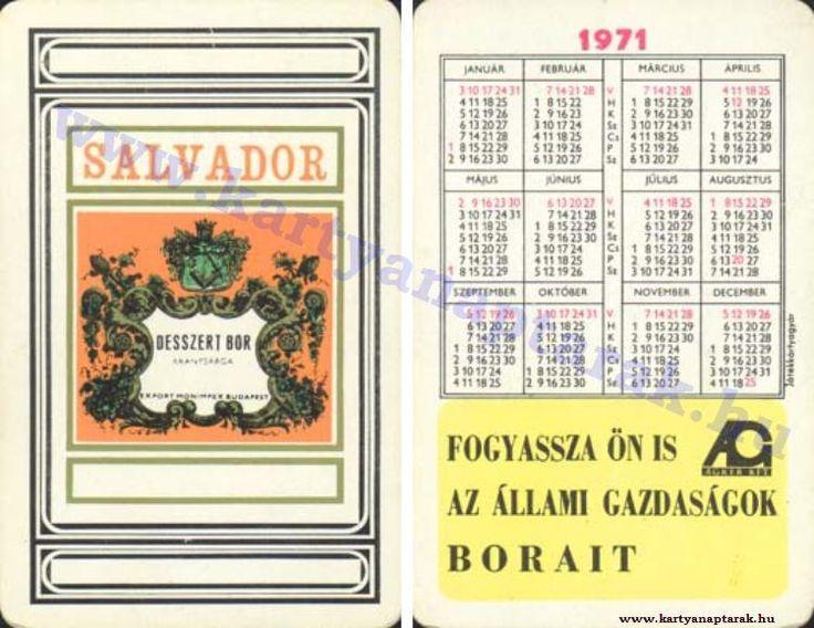 1971 - 1971_0565 - Régi magyar kártyanaptárak