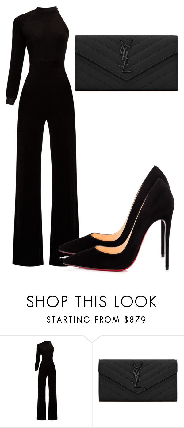 """Untitled #4889"" by beatrizvilar on Polyvore featuring Vetements, Yves Saint Laurent and Christian Louboutin"