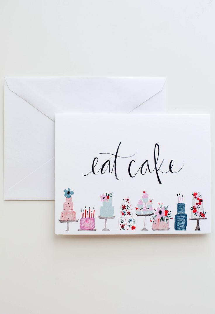 Eat Cake card / Shannon Kirsten Illustration via Etsy