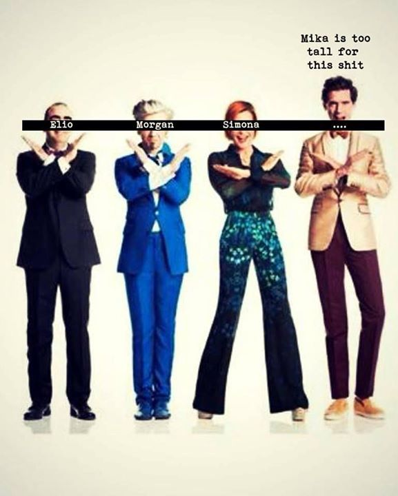 Mika is too tall for the other x factor italy judges