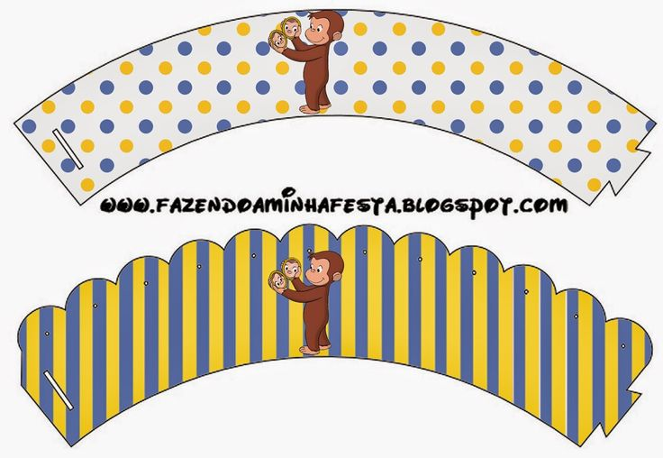 Curious George Free Party Printables. Cupcakes