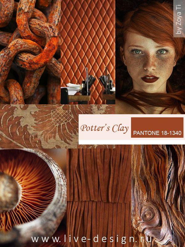 Potter's Clay / Гончарная Глина модный цвет Pantone сезона осень-зима 2016