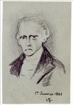 Portrait of Charles Fourier By André Breton ,1961