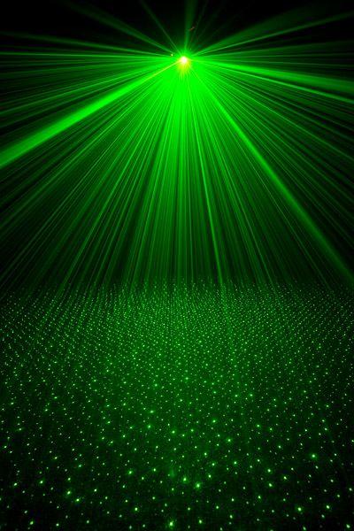 Green lazer light...