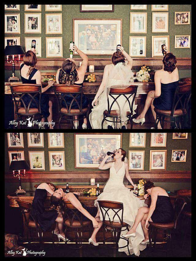 Bridesmaids behaving badly                                                                                                                                                     More