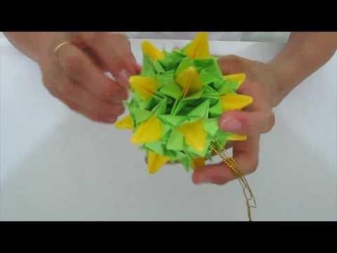 Kusudama Origami - How to make a Handball of Bellflowers