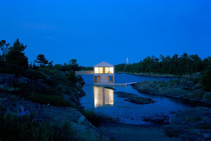 Cabin Porn : The Floating House by MOS Architects rests on...