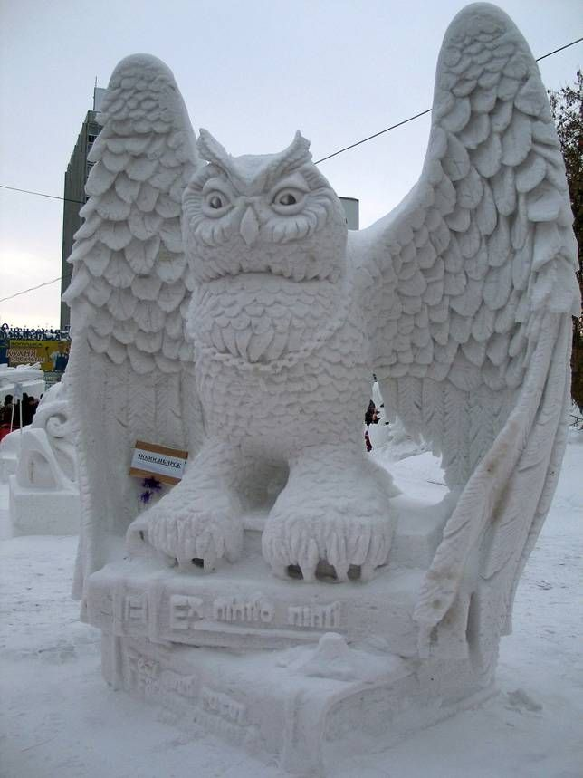 From towering castles to recognizable characters, these snow sculptures give the old marble slab a run for the money.