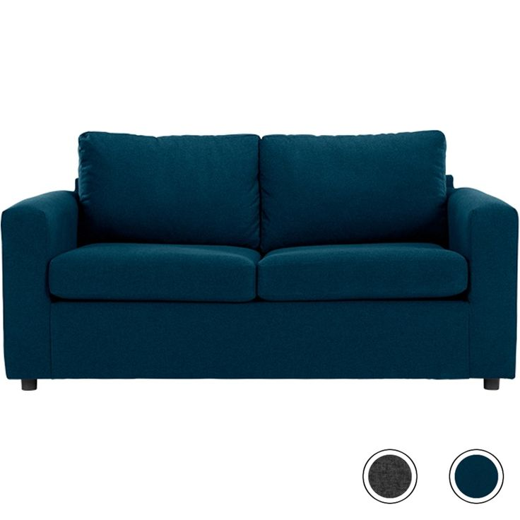 Made Essentials Felix 3 Seater Sofa Bed with Foam Mattress, Shetland Blue from Made.com. Meet Felix, our comfy and contemporary sofa bed. It's a gre..