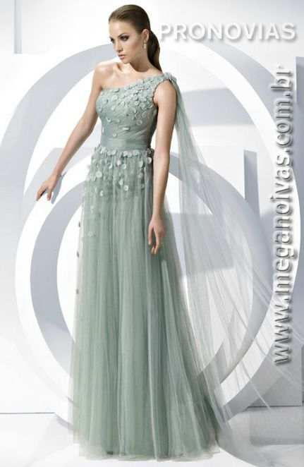 Cheap dresses formal gowns, Buy Quality gown disposable directly from China  dress birthday Suppliers: 2013 Green Grey One-shoulder Pleated Bodice  Flower ...