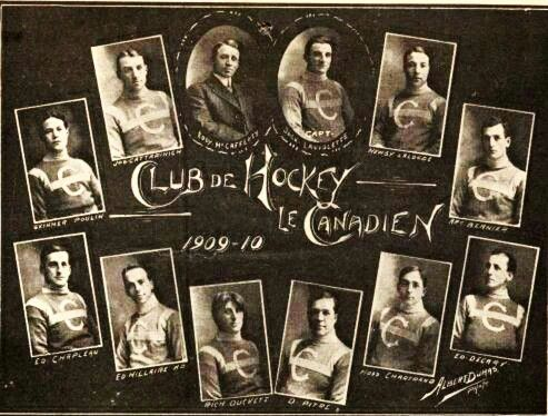 1909-1910 Montreal Canadiens Inaugural Team