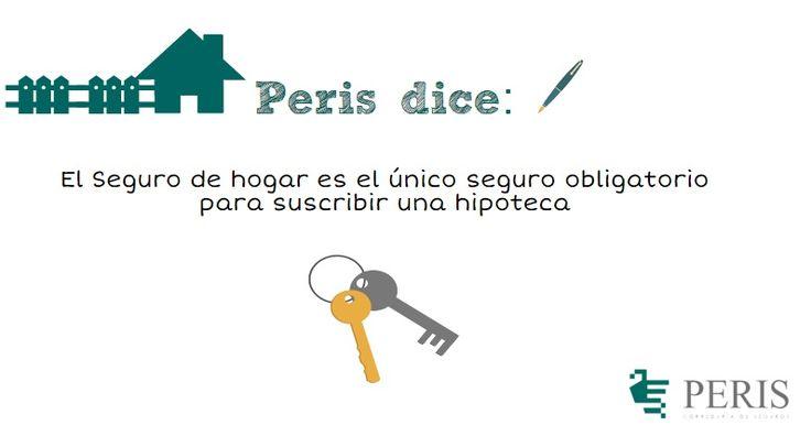 Peris dice: El Seguro de hogar es el único seguro obligatorio para suscribir una hipoteca