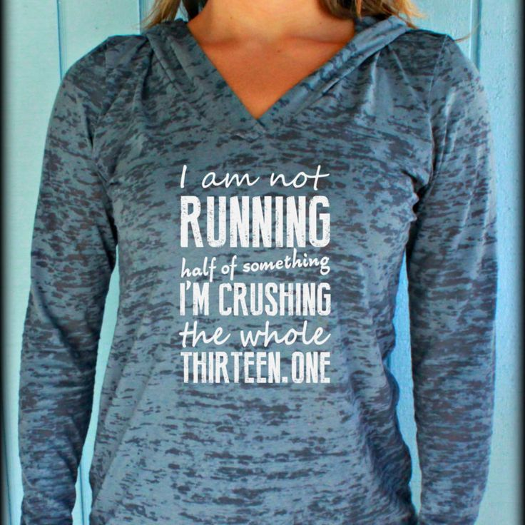 Womens Running Race Day Workout Hoodie. Crushing the Half Marathon Top