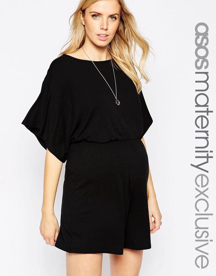 Image 1 of ASOS Maternity Romper With Kimono Sleeve