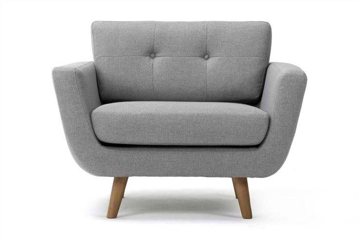 Vera fauteuil, vence grijs. Prachtige stoel van Deens design