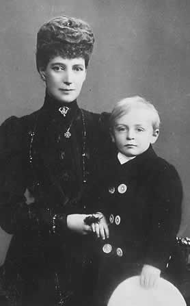 Alix with her grandson, the future King Olav of Norway