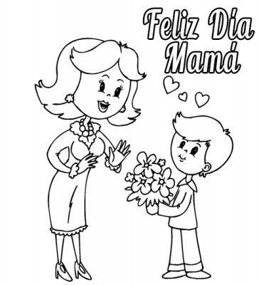 dibujos del dia de la madre regalo