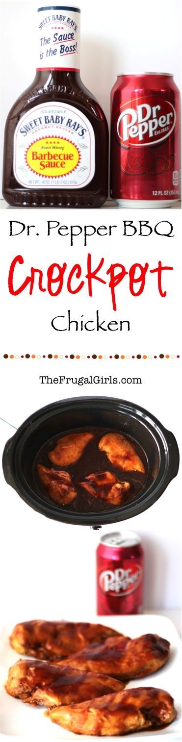 Crockpot Dr. Pepper BBQ Chicken Recipe ~ from TheFrugalGirls.com ~ you'll love how easy and delicious this Slow Cooker dinner is!