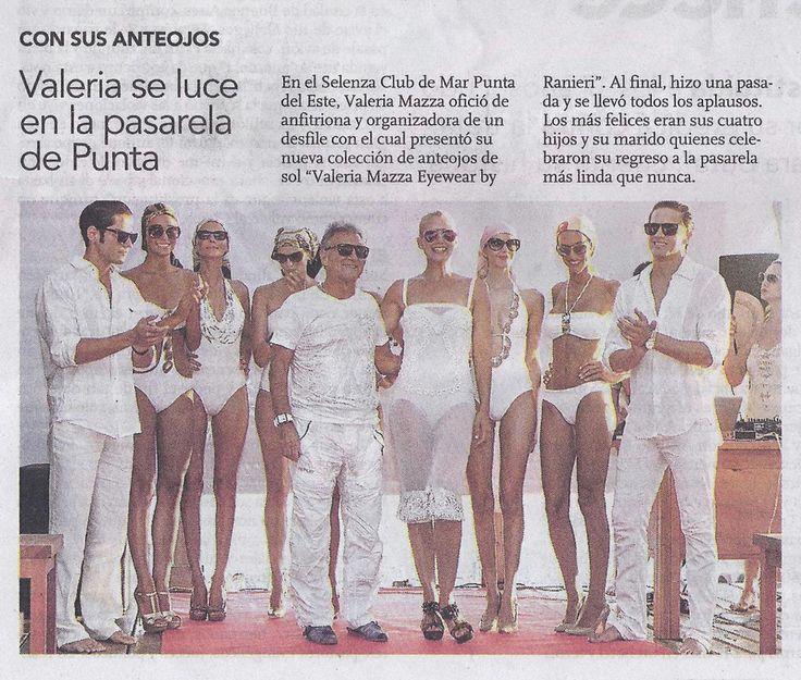 Valeria Mazza Eyewear en el Suplemento Mujer del Diario Clarín 07.02.2014