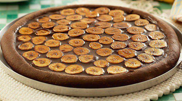 Extravagante pizza dulce de banana y chocolate - IMujer