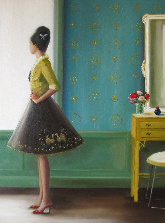 Portrait. The Magic Of Miss Evans.  Art Print by janethillstudio, $26.00