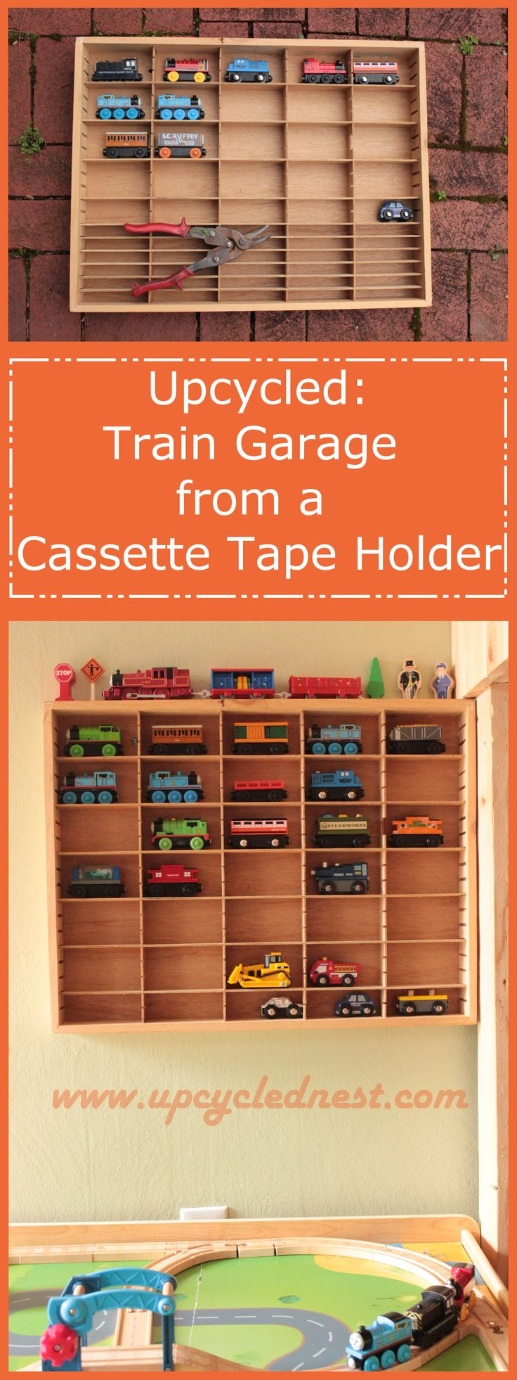 Upcycled: Train Garage from a Cassette Tape Holder