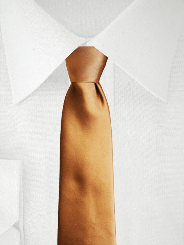 Orange Krawatte aus Satin