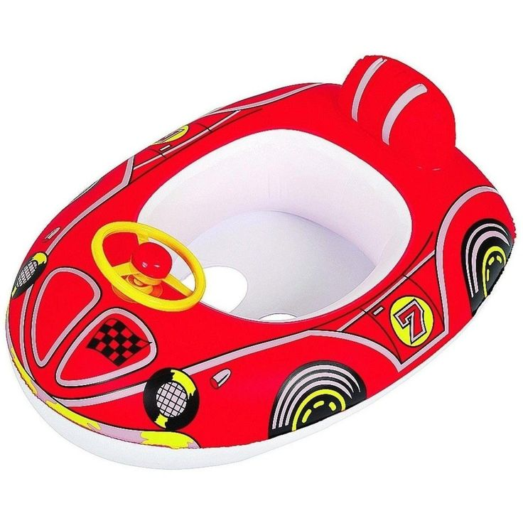 "Jilong 27"" Red Race Car Kiddie Rider Kids Swimming Pool Inflatable Float 32148066"