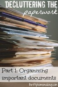 Decluttering Paper Part 1: Organizing Important Documents - laurasueshaw.com