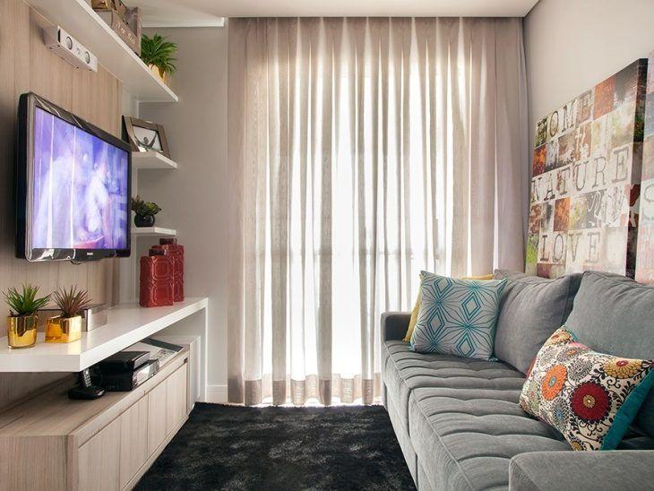 70 ideias de salas pequenas decoradas e lindas para se inspirar #