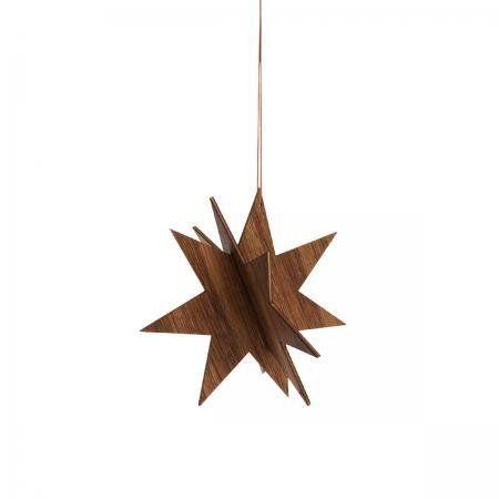 Ferm Living Anhänger Wooden Star 12cm, Eiche