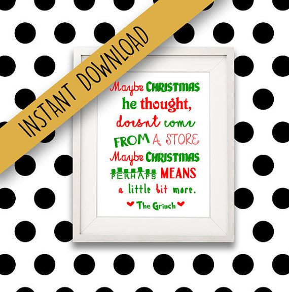 The Grinch Quote  Motivational quote motivational by BanterPrints