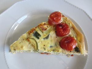 Savoury Pie with Zucchini, Cherry Tomatoes, Parmesan and Ricotta www.easyitaliancuisine.com