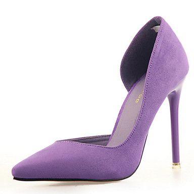 Women's Shoes Velvet Stiletto Heel Heels Pumps/Heels Dress/Casual Black/Blue/Green/Pink/Purple/Red/Burgundy - USD $ 17.99