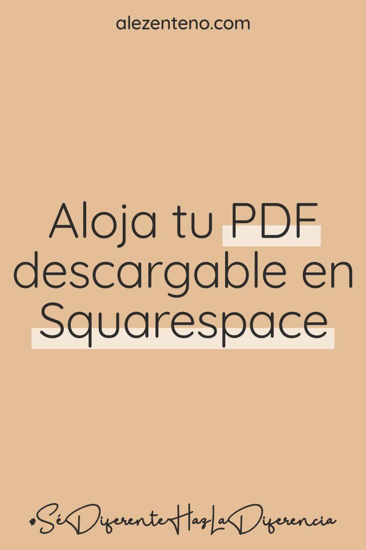 Subir Un Archivo Pdf Descargable A Tu Web En Squarespace Ale Zenteno Diseño Web Y Especialista En Squarespace Disenos De Unas Diseño Web Archivadores