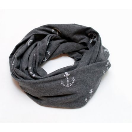 Fashion :: Accessories :: Scarves :: Grey Anchor Infinity Scarf
