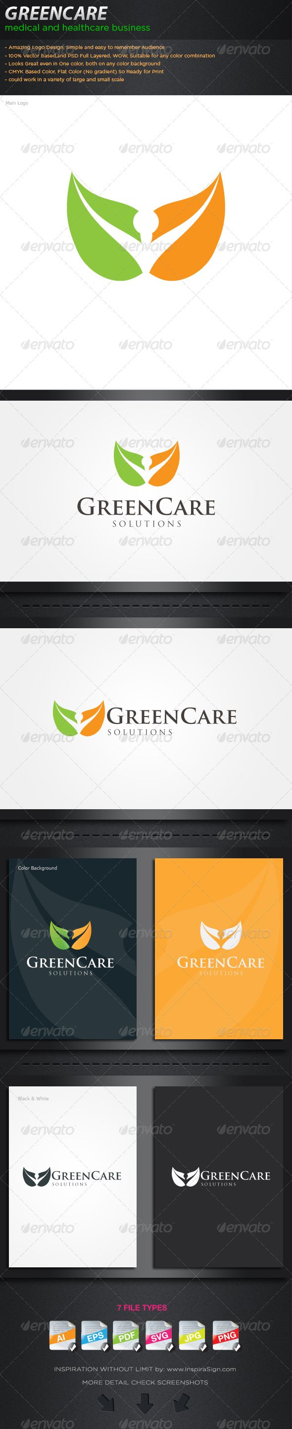 GreenCare - Profesional Logo For Your Green Compan  #GraphicRiver         Logo:  	 This brand is suitable for every kind of business sector.Name, color…etc changes can be done according to your desire.  	 Best suited for: Health company, Green Company, art, accounting firms, technology, community, association, profesional company travel, related products and services,creative design studios, IT companies, media corporations, science meetings and gatherings, web hosting companies, personal…