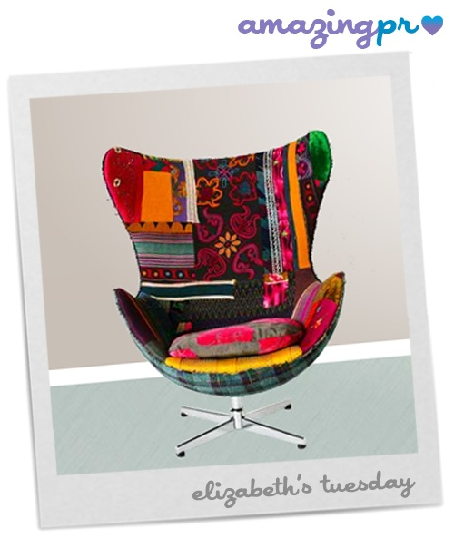 """""""Bokja is a Beirut-based business and the creative lovechild of Hoda Baroudi and Maria Hibri. Together they have managed to cleverly combine one's love of ancient tapestries and textiles with the other's penchant for retro furniture. All of the furniture is made from designs of 50's, 60's and 70's furniture unearthed in Beirut flea-markets."""" Come to our blog and read the full post! http://amazingpr.co.uk/blog/?p=1423"""