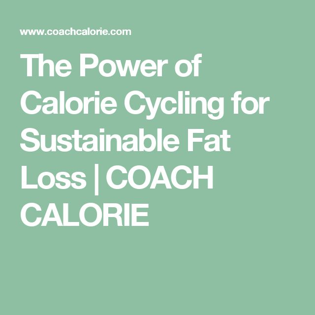 The Power of Calorie Cycling for Sustainable Fat Loss | COACH CALORIE