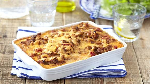 Greek Pastitsio with Beef Mince