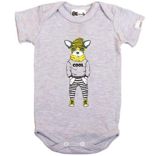 Lullaby Rock Mr Cool Dog Body vest.  Shop online at www.lullabyrock.co.za #lullabyrock #rockingbabyapparel