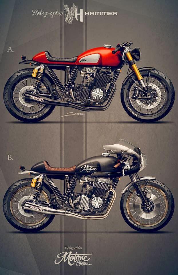 Cafè Racer Concepts - Honda CB 750 SOHC 1976 by Holographic Hammer