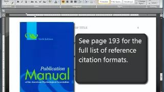 how to write a research paper in apa format - YouTube